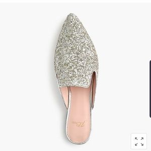 J. Crew Shoes - J.Crew Marina Pointed Toe Glitter Slide Mule